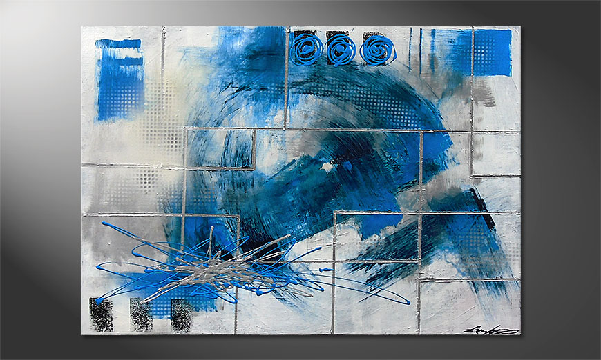 Le tableau mural Water Signs 100x70x2cm