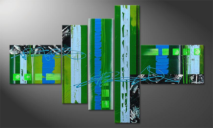 Le tableau mural moderne Fresh Momentum 150x90x2cm