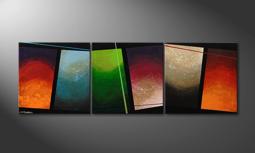 Le tableau pour salon Color Wave 210x70x2cm
