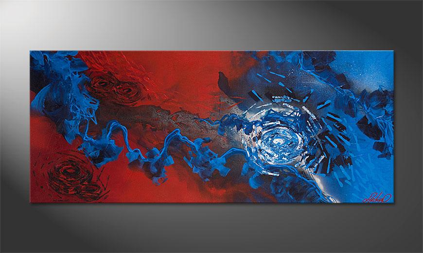 Tableau Frozen Rose 140x60x2cm