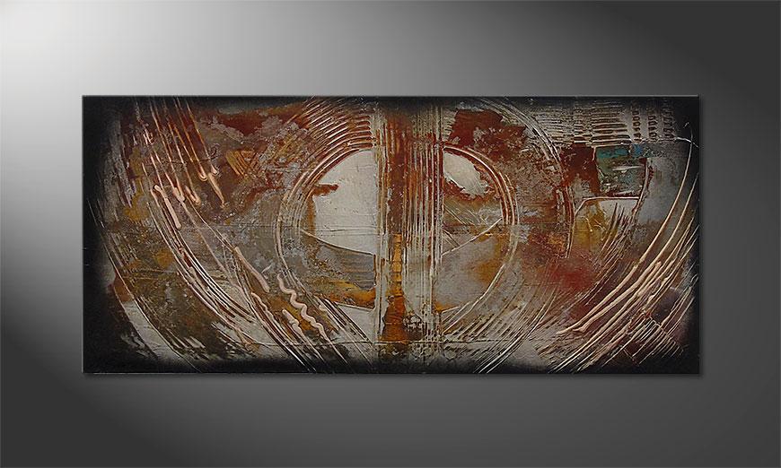 Traces of Past 110x50x2cm Tableau