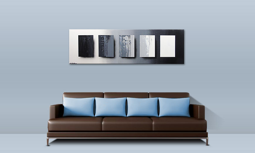 Le tableau mural Reverse the Day 160x50cm