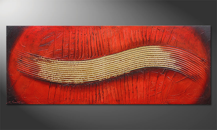 Le tableau mural Golden Wing 150x60