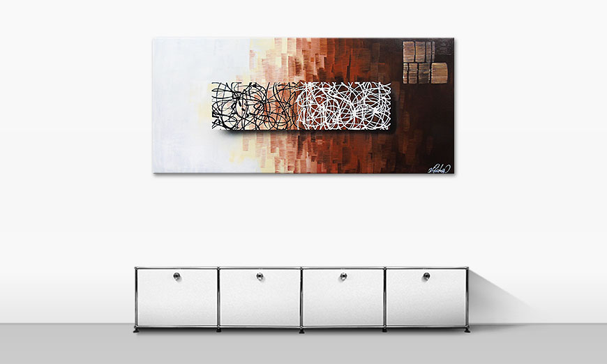 Le tableau mural Lights in the Dark 150x70cm