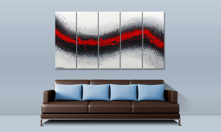 Le tableau mural Glowing Trace 150x80cm