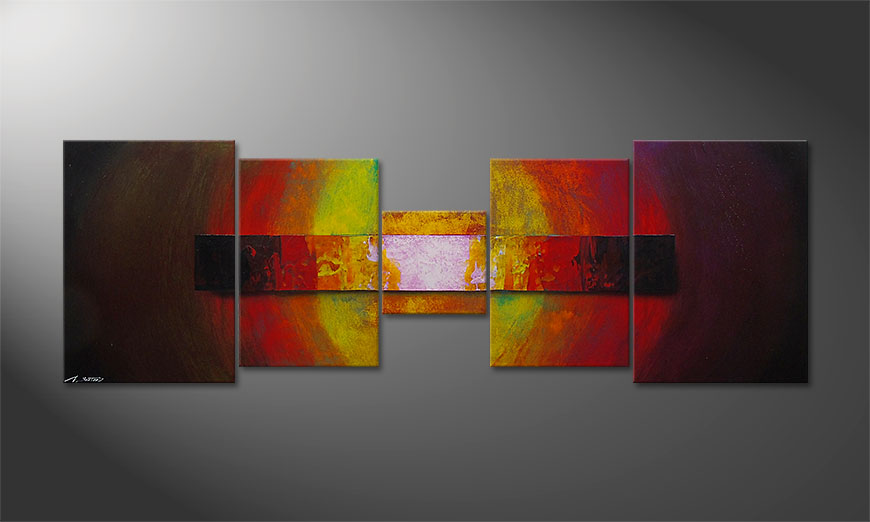 Le tableau mural Afterglowing Sky 210x70cm