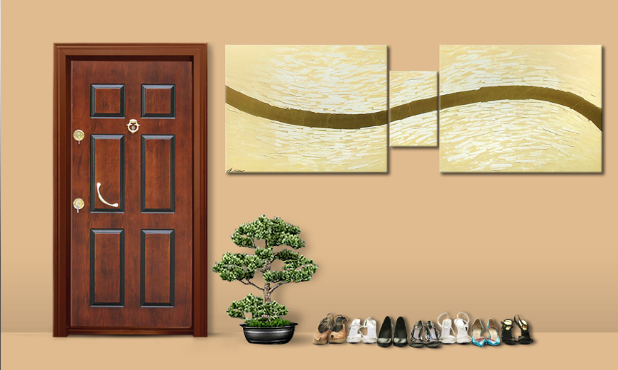 Le tableau mural Gentle River 230x80cm