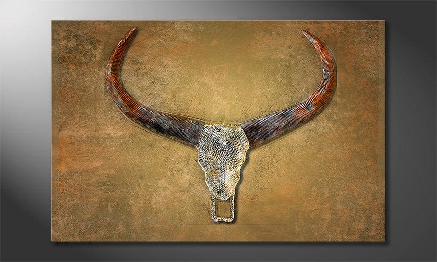 Décor moderne Bull Skull