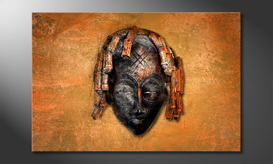 Impression sur toile Black Face
