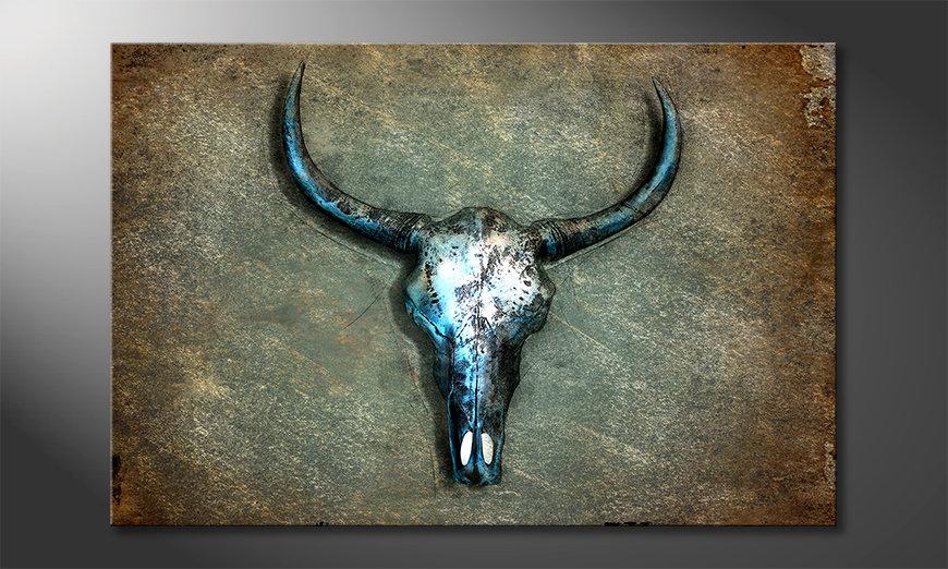 Impression sur toile Buffalo Skull
