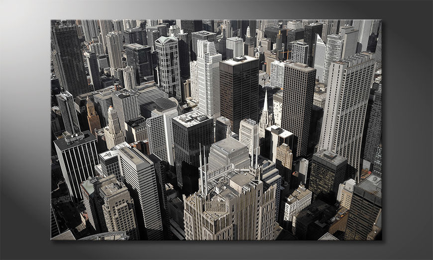 Impression sur toile City of Chicago