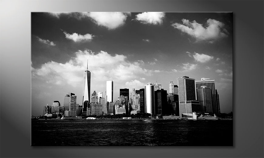 Impression sur toile Manhattan Skyscrapers
