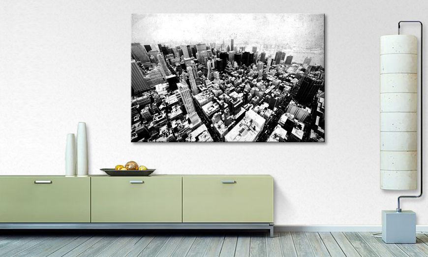 impression sur toile new york vintage tableaux xxl. Black Bedroom Furniture Sets. Home Design Ideas