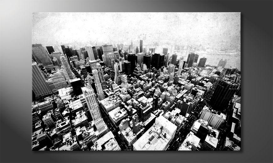 Impression sur toile New York Vintage