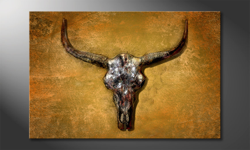 Impression sur toile Texas Buffalo
