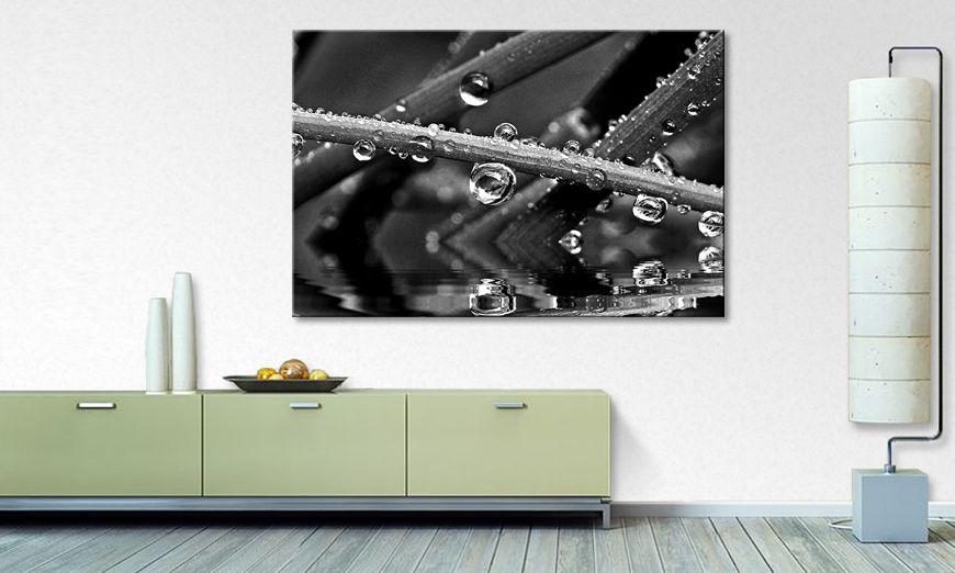 impression sur toile water drops tableaux xxl. Black Bedroom Furniture Sets. Home Design Ideas