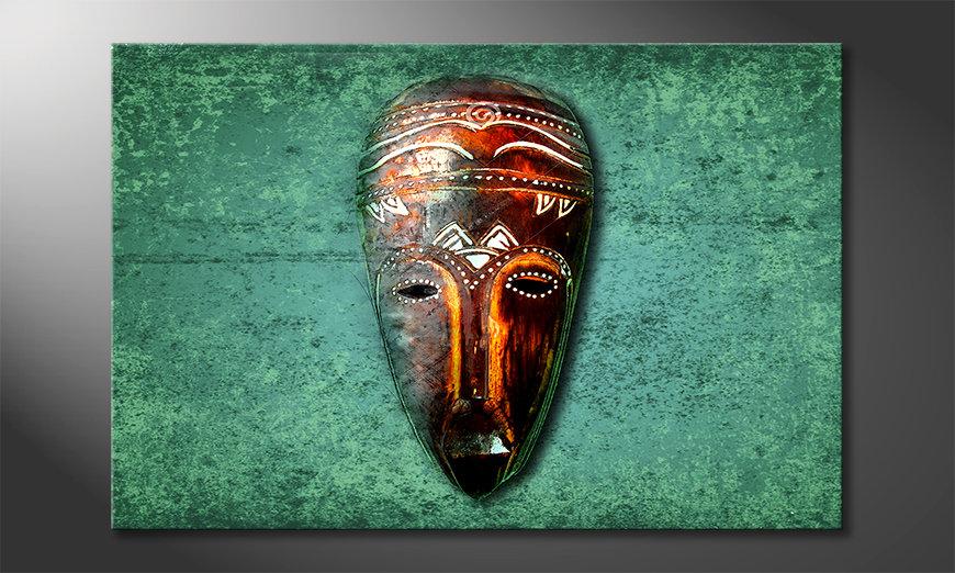 Impression sur toile Wood Face