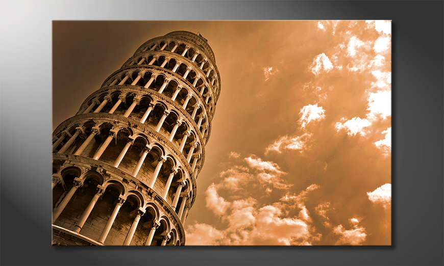L'impression sur toile Leaning Tower