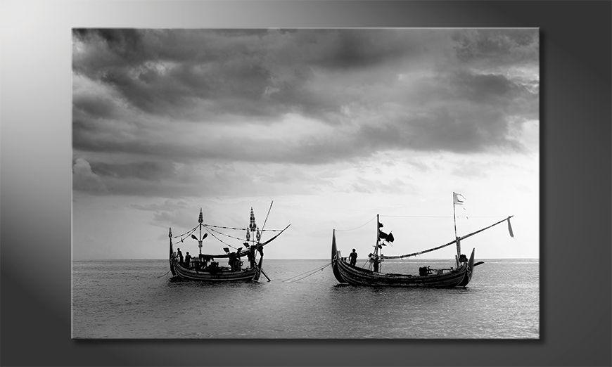 La belle peinture Fishing Boats