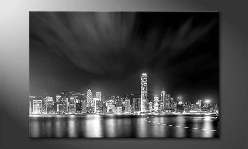 La belle peinture Hongkong At Night