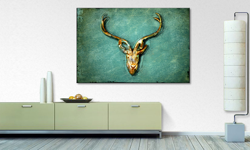 La belle peinture The Deer