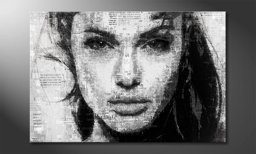 La toile imprimée Angelina