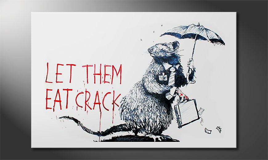 La toile imprimée Banksy No16