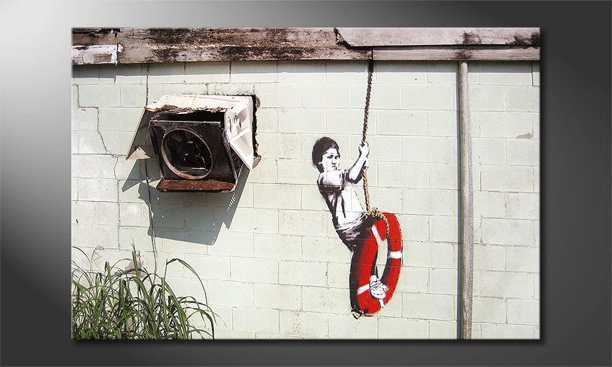 La toile imprimée Banksy No4