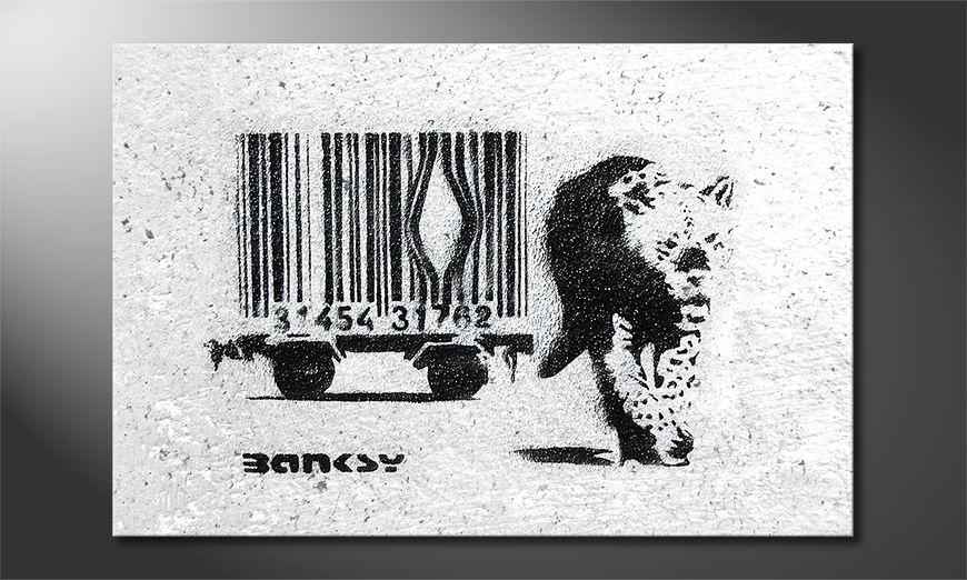 La toile imprimée Banksy No5