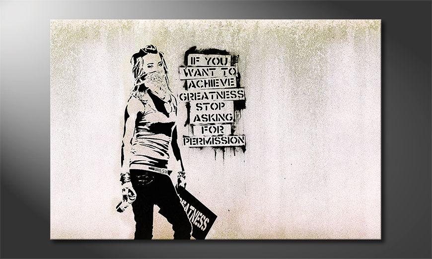 La toile imprimée Banksy No7