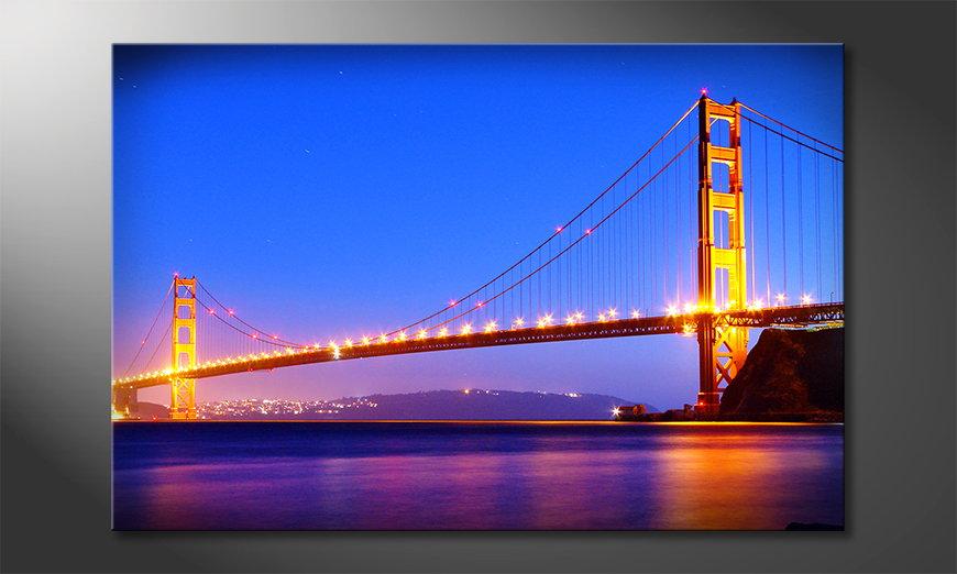 La toile imprimée Golden Gate