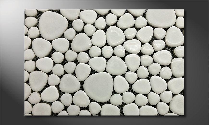 La toile imprimée Stones Mosaic