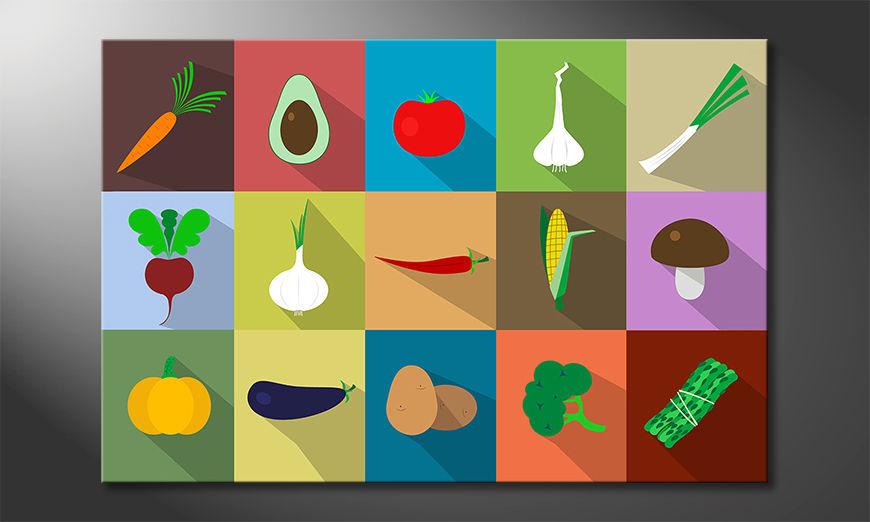Le beau tableau Funny Vegetables