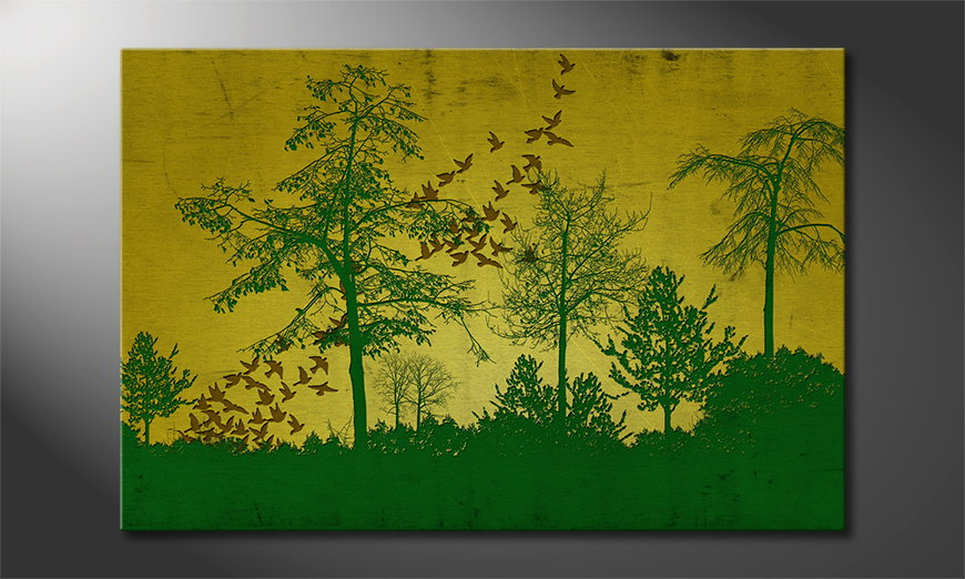 Le-tableau-imprimé-Birds-in-Forest