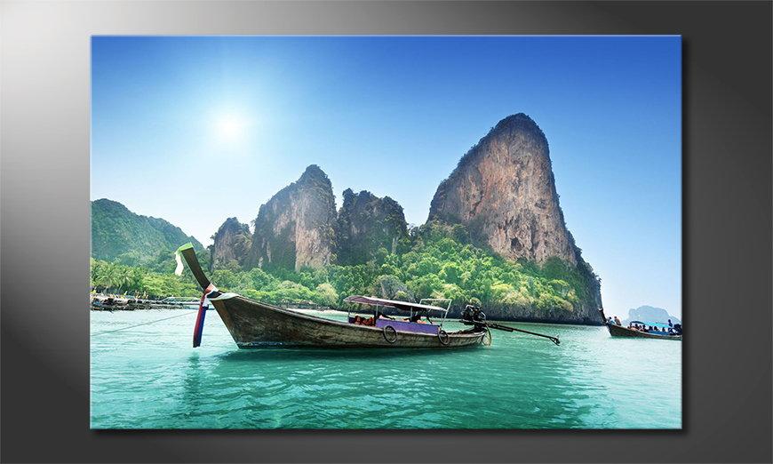 Le tableau imprimé Boats in Bay