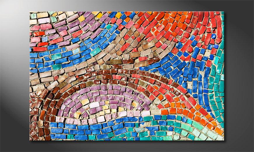 Le tableau imprimé Colorful Mosaic