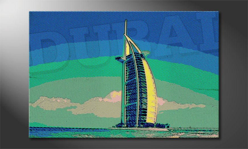 Le tableau imprimé Dubai