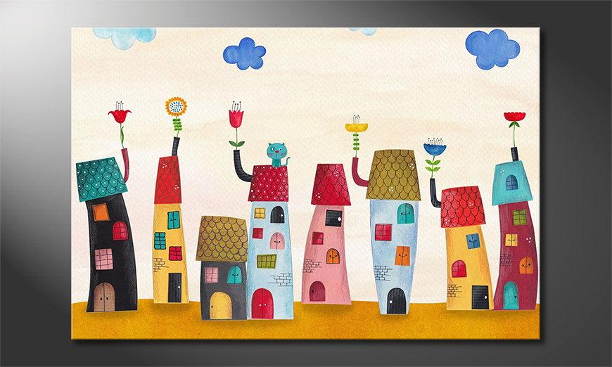 Le tableau imprimé Fairytale Town