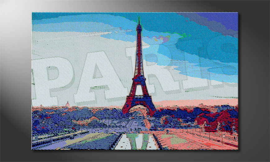 Le tableau imprimé Paris