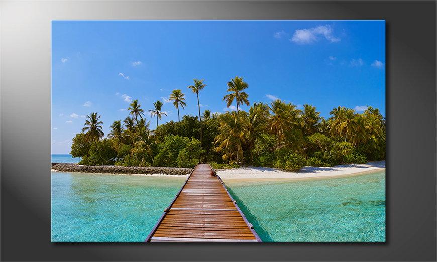 Le tableau imprimé Tropical Way