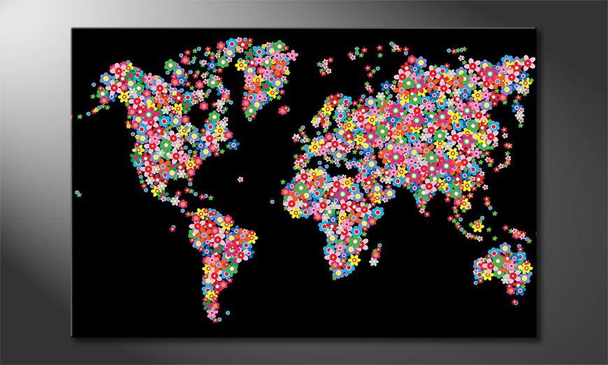 Le tableau imprimé World Flowers