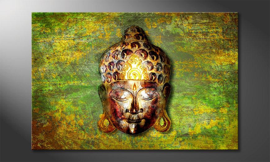 Le tableau moderne Buddah Head