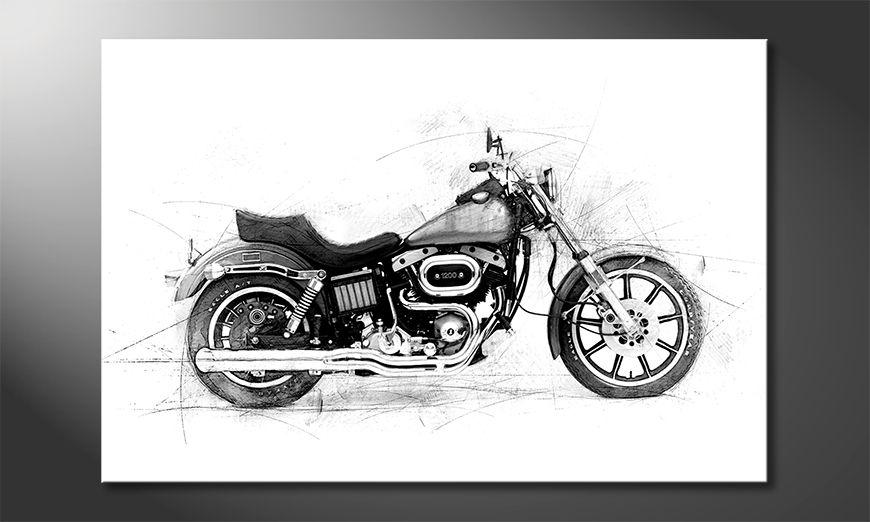Le tableau moderne Motorcycle