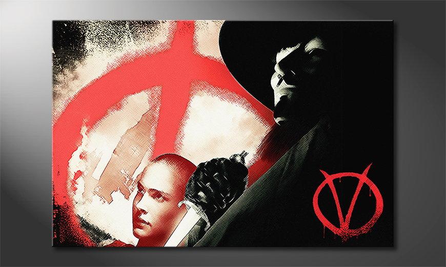 Le tableau moderne V pour Vendetta
