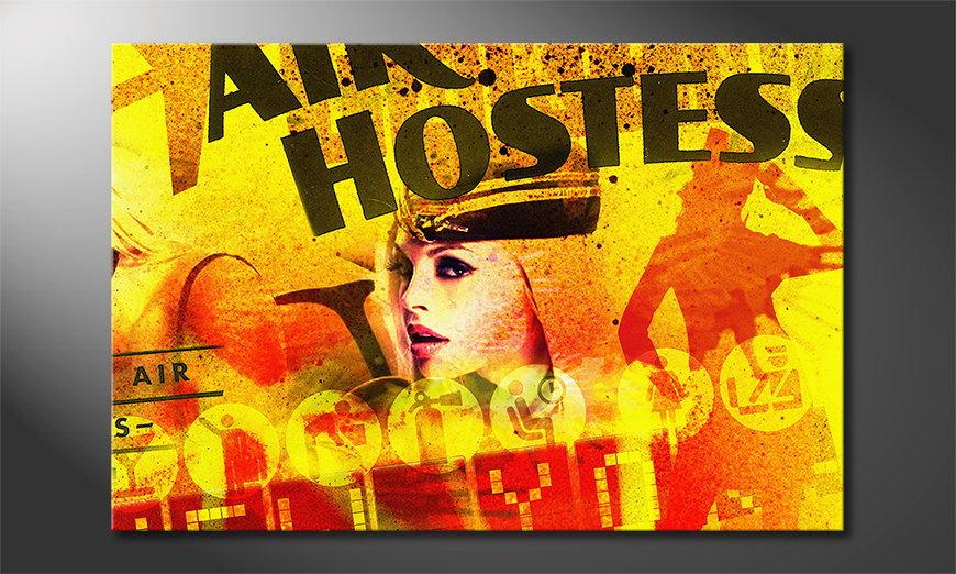 Le tableau mural Air Hostess