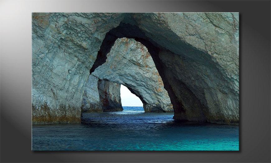 Le tableau mural Blue Caves