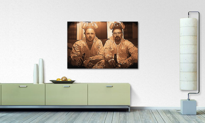 le tableau mural breaking bad tableaux xxl. Black Bedroom Furniture Sets. Home Design Ideas