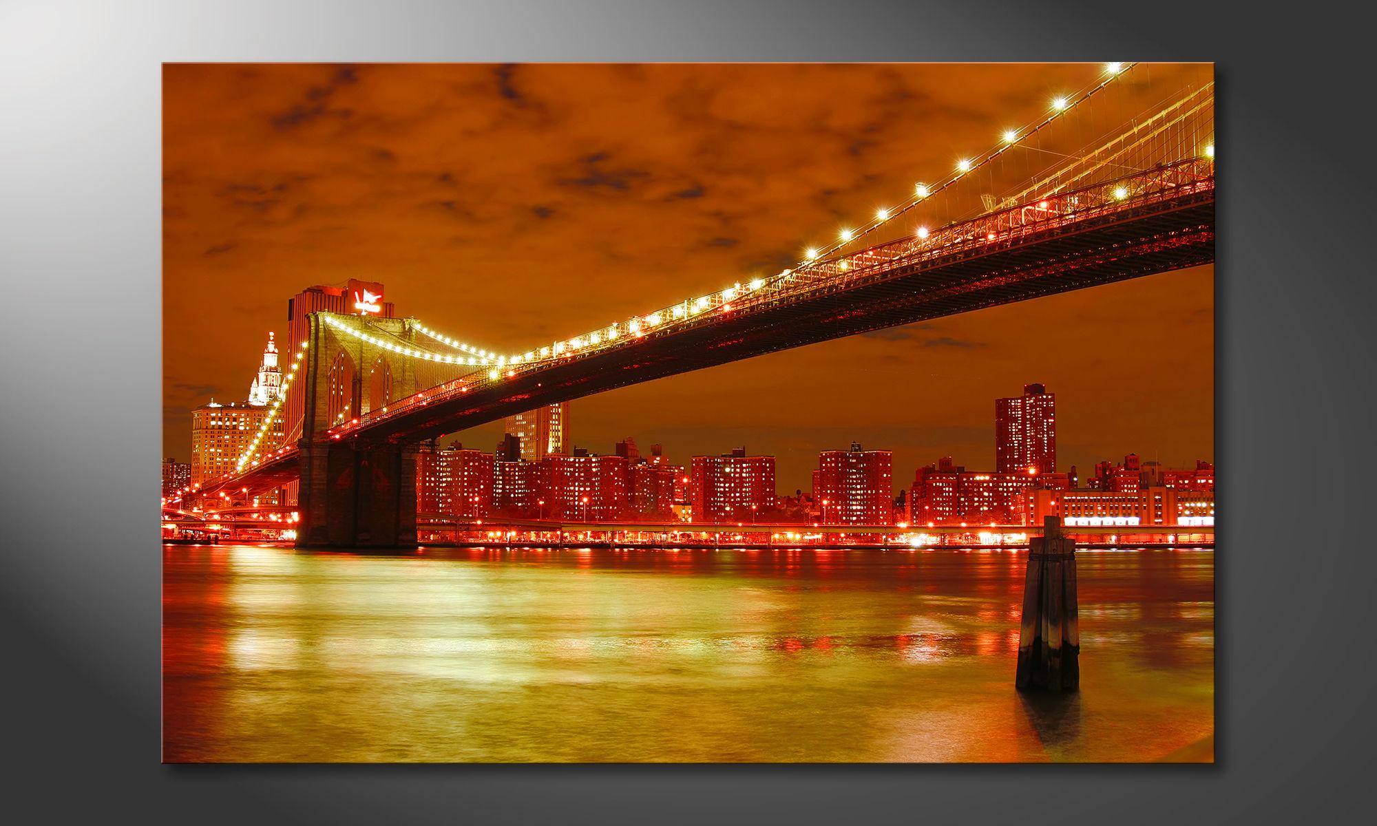 le tableau mural brooklyn bridge tableaux xxl. Black Bedroom Furniture Sets. Home Design Ideas