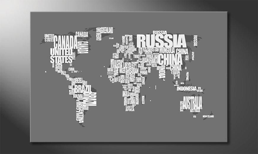 Le tableau mural Carte du Monde 11