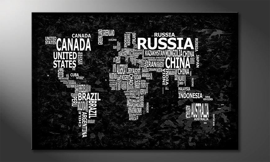 Le tableau mural Carte du Monde 12